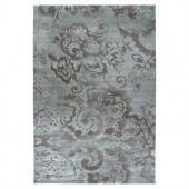 Lavish Home Mosaic Blue 5 ft. x 7 ft. 3 in. Area Rug