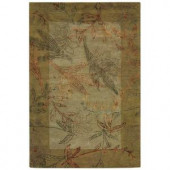 Home Decorators Collection Stems Sage 3 ft. 9 in. x 5 ft. 9 in. Area Rug