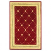 Kas Rugs French Trellis Ruby/Gold 3 ft. 3 in. x 5 ft. 3 in. Area Rug