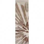 Surya Candice Olson Oyster Gray 2 ft. 6in. x 8 ft. Runner