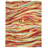 Loloi Rugs Olivia Life Style Collection Red Multi 7 ft. 6 in. x 9 ft. 6 in. Area Rug
