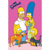 Fun Rugs The Simpsons Loving Family Multi Colored 19 in. x 29 in. Accent Rug