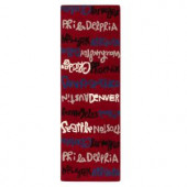 Home Decorators Collection City Red 2 ft. 6 in. x 8 ft. Runner