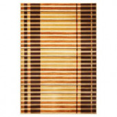 Kas Rugs Stripe up the Bands Earthtone 5 ft. 3 in. x 7 ft. 7 in. Area Rug