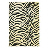 Kas Rugs Zebra Beige 2 ft. 3 in. x 3 ft. 3 in. Area Rug