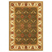Kas Rugs State of Honor Green/Ivory 3 ft. 11 in. x 5 ft. 3 in. Area Rug