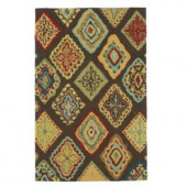 Loloi Rugs Olivia Life Style Collection Brown Multi 3 ft. 6 in. x 5 ft. 6 in. Area Rug