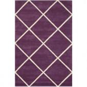 Safavieh Chatham Purple/Ivory 6 ft. x 9 ft. Area Rug