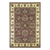 Kas Rugs Classic Mahal Plum/Ivory 5 ft. 3 in. x 7 ft. 7 in. Area Rug