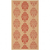 Safavieh Courtyard Natural/Red 2.6 ft. x 5 ft. Area Rug