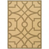 Martha Stewart Living Fretwork Sand/Coffee 6 ft. 7 in. x 9 ft. 6 in. Indoor/Outdoor Area Rug