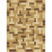 Natco Shadows Chameleon Brown 5 ft. 3 in. x 7 ft. 7 in. Area Rug