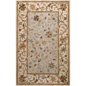 BASHIAN Wilshire Collection Garland Light Blue 2 ft. 6 in. x 8 ft. Area Rug