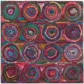 Safavieh Nantucket Pink/Multi 6 ft. x 6 ft. Square Area Rug