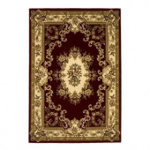 Kas Rugs Aubusson Red/Ivory 2 ft. 3 in. x 3 ft. 3 in. Area Rug