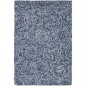Chandra Galaxy Blue/Ivory 7 ft. 9 in. x 10 ft. 6 in. Indoor Area Rug