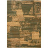 LR Resources Contemporary Cream and Dark Yellow Rectangle 5 ft. 3 in. x 7 ft. 5 in. Plush Indoor Area Rug