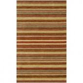 BASHIAN Contempo Collection Stripes Red Multi 2 ft. 6 in. x 8 ft. Area Rug