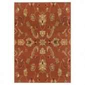 LR Resources Timeless Traditional Design in Rust 7 ft. 9 in. x 9 ft. 9 in. Indoor Area Rug