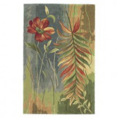 Kas Rugs Flower Watercolor Multi 3 ft. 6 in. x 5 ft. 6 in. Area Rug