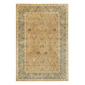 Home Decorators Collection Menton Gold and Blue 3 ft. x 5 ft. Area Rug