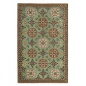 Home Decorators Collection Clermont Green 5 ft. 3 in. x 8 ft. 3 in. Area Rug