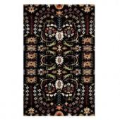 Home Decorators Collection Lumiere Black 6 ft. x 9 ft. Area Rug