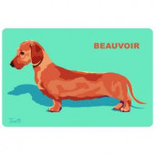 Bungalow Flooring Printed Dachshund 2 17.5 in. x 26.5 in. Mat