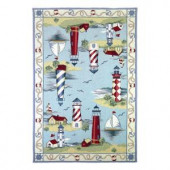 Kas Rugs Lighthouse View Blue 2 ft. 6 in. x 4 ft. 2 in. Area Rug