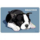 Bungalow Flooring Printed Boston Terrier 35 17.5 in. x 26.5 in. Mat
