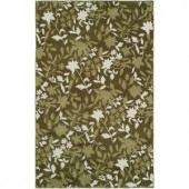 HRI Camelot II Green 5 ft. x 8 ft. Area Rug