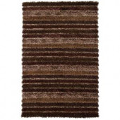Chandra Lavasa Brown/Ivory 7 ft. 9 in. x 10 ft. 6 in. Indoor Area Rug