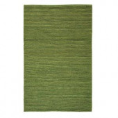 Home Decorators Collection Banded Jute Soft Green 4 ft. x 6 ft. Area Rug