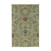 Home Decorators Collection Baroness Blue 2 ft. x 3 ft. Area Rug