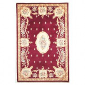Kas Rugs Classy Aubusson Ruby 3 ft. 3 in. x 5 ft. 3 in. Area Rug