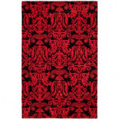 Safavieh Soho Black/Red 5 ft. x 8 ft. Area Rug