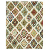 Loloi Rugs Olivia Life Style Collection Ivory Multi 7 ft. 6 in. x 9 ft. 6 in. Area Rug