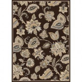 Home Dynamix Tiara Brown 5 ft. 2 in. x 7 ft. 2 in. Area Rug