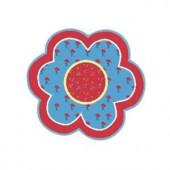 LA Rug Inc. Fun Time Shape Bandana Flower Multi Colored 39 in. Round Accent Rug