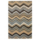 Home Decorators Collection Cheveron Blue 3 ft. 6 in. x 5 ft. 6 in. Area Rug