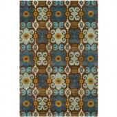 Safavieh Soho Brown/Blue 3.5 ft. x 5.5 ft. Area Rug