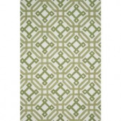 Loloi Rugs Weston Lifestyle Collection Ivory Green 5 ft. x 7 ft. 6 in. Area Rug