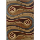 LR Resources Contemporary Gold and Brown Runner 1 ft. 10 in. x 7 ft. 1 in. Plush Indoor Area Rug