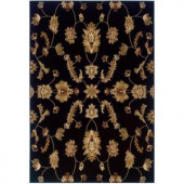 LR Resources Transitional Black Runner 1 ft. 10 in. x 7 ft. 1 in. Plush Indoor Area Rug