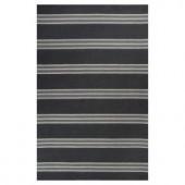 Kas Rugs Elegant Bands Grey/Cream 2 ft. 6 in. x 4 ft. 2 in. Area Rug