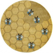 Momeni Caprice Collection Honeycomb 5 ft. x 5 ft. Round Area Rug