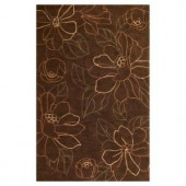 Kas Rugs Floral Place Mocha 3 ft. 3 in. x 5 ft. 3 in. Area Rug