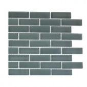 Splashback Tile Contempo Blue Gray 1/2 in. x 2 in. Brick Pattern - 6 in. x 6 in. Tile Sample