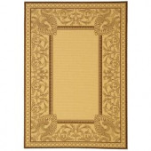 Safavieh Courtyard Natural/Chocolate 2 ft. 7 in. x 5 ft. Area Rug