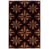 Oriental Weavers Camille Daly Red 3 ft. 2 in. x 5 ft. 5 in. Area Rug